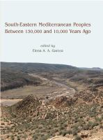 South-eastern Mediterranean Peoples Between 130,000 and 10,000 Years Ago