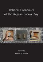 Political Economies of the Aegean Bronze Age