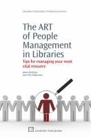 The ART of People Management in Libraries