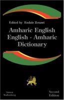 Amharic-English, English-Amharic Dictionary