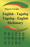 English-Tagalog, Tagalog-English Dictionary