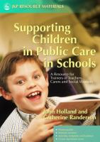 Supporting Children In Public Care In Schools