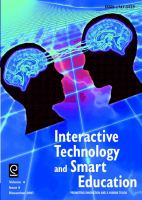 Papers From the IEEE International Workshop on Multimedia Technologies for E-Learning (MTEL)