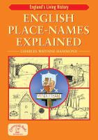 English Place-names Explained