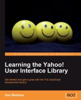 Learning the Yahoo! User Interface Library