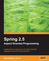 Spring 2.5 Aspect-oriented Programming