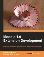 Moodle 1.9 Extension Development