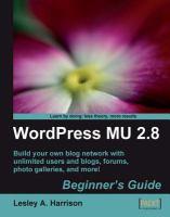 WordPress MU 2.8