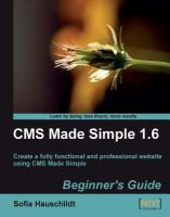 CMS Made Simple 1.6 Beginner's Guide