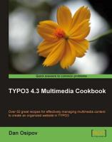 TYPO3 4.3 Multimedia Cookbook