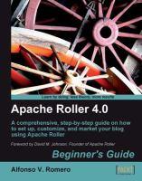 Apache Roller 4.0 Beginner's Guide