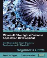 Microsoft Silverlight 4 Business Application Development