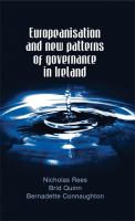Europeanisation and New Patterns of Governance in Ireland