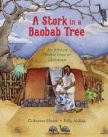 A Stork in A Baobab Tree