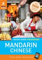 The Rough Guide Mandarin Chinese Phrasebook
