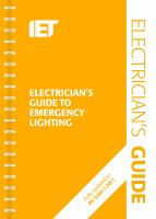IEE Electrician's Guide to Emergency Lighting