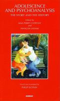 Adolescence and Psychoanalysis