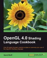 OpenGL 4.0 Shanding Language Cookbook