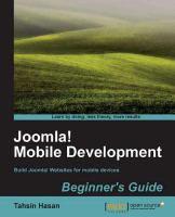 Joomla! Mobile Development Beginners Guide
