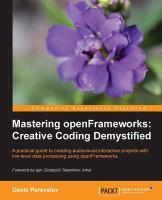 Mastering OpenFrameworks