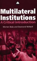 Multilateral Institutions