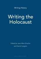 Writing the Holocaust