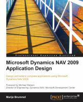 Microsoft Dynamics NAV 2009 Application Design