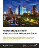 Microsoft Application Virtualization Advanced Guide