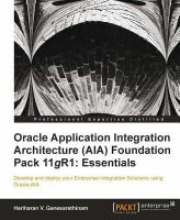 Oracle Application Integration Architecture (AIA) Foundation Pack 11gR1