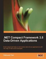 NET Compact Framework 3.5 Data-driven Applications