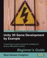Unity 3D Game Development by Example