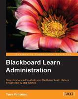 Blackboard Learn Administration