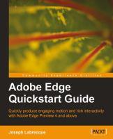 Adobe Edge Quickstart Guide