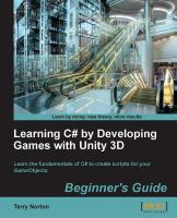 Learning C♯ by Developing Games With Unity 3D Beginner's Guide