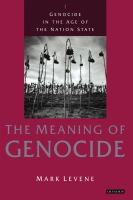 The Meaning of Genocide
