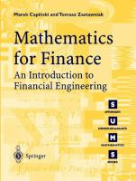Mathematics for Finance: An Introduction to Financial Engineering (Springer Undergraduate Mathematics Series, 1615-2085)