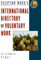 International Directory Of Voluntary Work