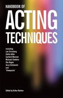 Handbook of Acting Techniques
