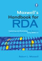 Maxwell's Handbook for RDA