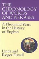 The Chronology of Words and Phrases