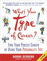 What's your Type of Career?