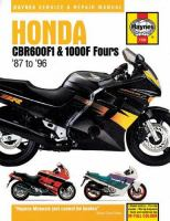 Honda CBR600F1 & 1000F Fours Service and Repair Manual