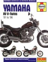 Yamaha XV V-twins Service and Repair Manual