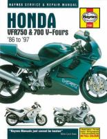 Honda VFR750 & 700 V-fours Service and Repair Manual