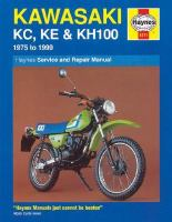 Kawasaki KC, KE & KH100 : Service and Repair Manual
