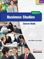 Moving Into Business Studies