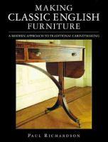 Making Classic English Furniture