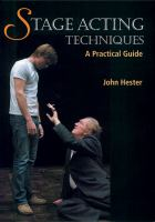 Stage Acting Techniques