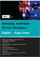 Everyday Australian Picture Dictionary