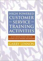 High Powered Customer Service Training Activities